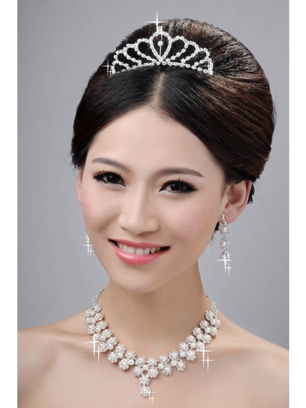 Gorgeous Wedding Headpieces Necklaces Earrings Set