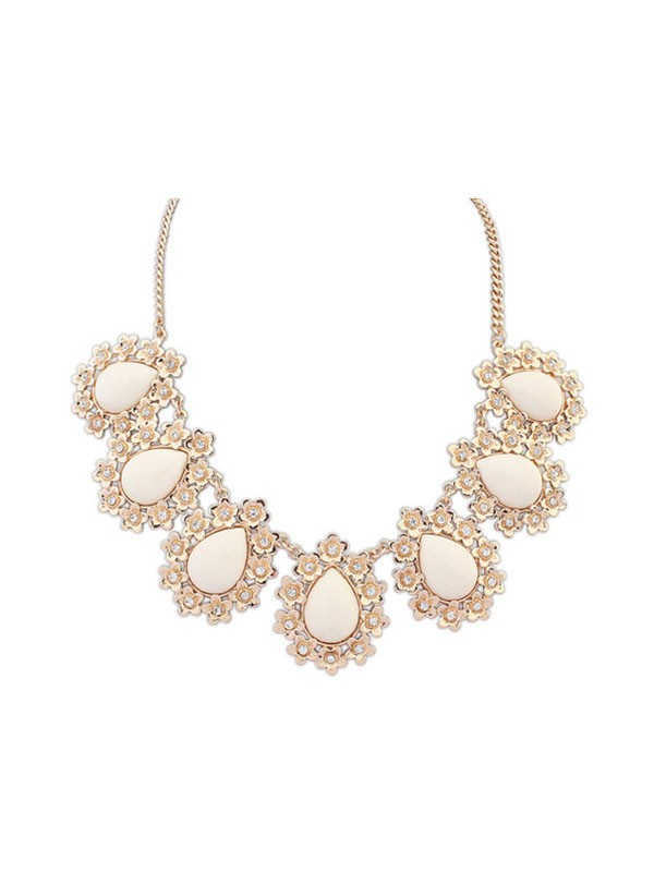 Occident All-match Floret Water Drop Temperament Hot Sale Necklace