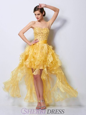 A-Line/Princess Sweetheart Tulle Sleeveless Asymmetrical Dresses
