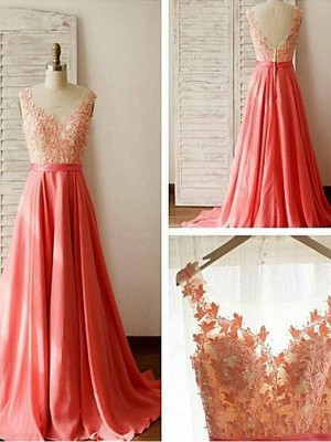 A-Line/Princess Sweetheart Chiffon Sleeveless Sweep/Brush Train Bridesmaid Dresses