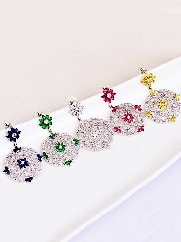 Fashionable Zircon Hot Sale Earrings For Ladies