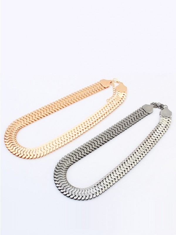 Occident Personality Metallic thick chains Short Hot Sale Necklace