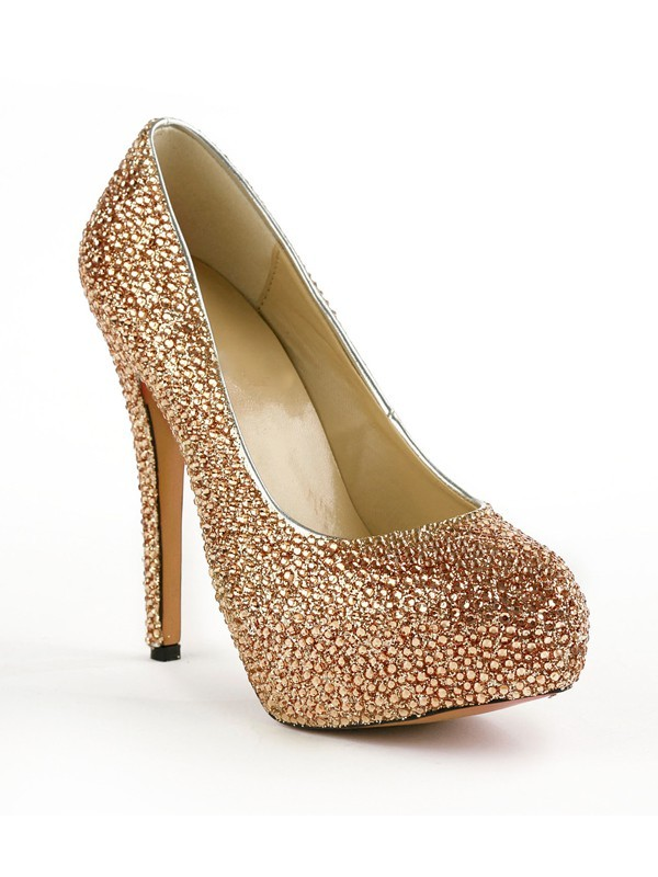 Women's Closed Toe Stiletto Heel Platform With Rhinestones Platform Platforms Shoes